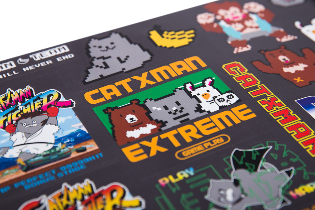 'CATXMAN IN GAME WORLD STICKERS