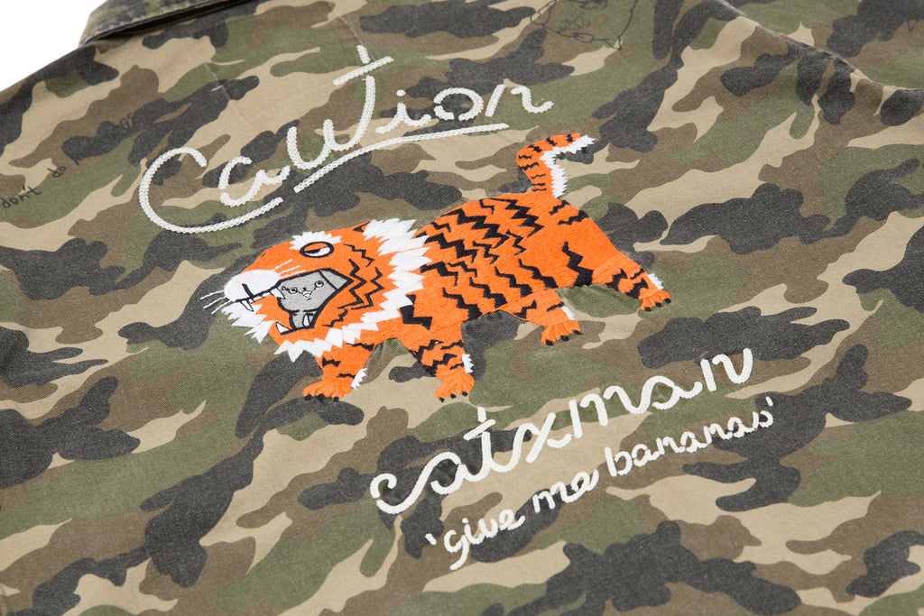 'CATXMAN CAMOUFLAGE SHIRT WITH PAPER TIGER (UNISEX)