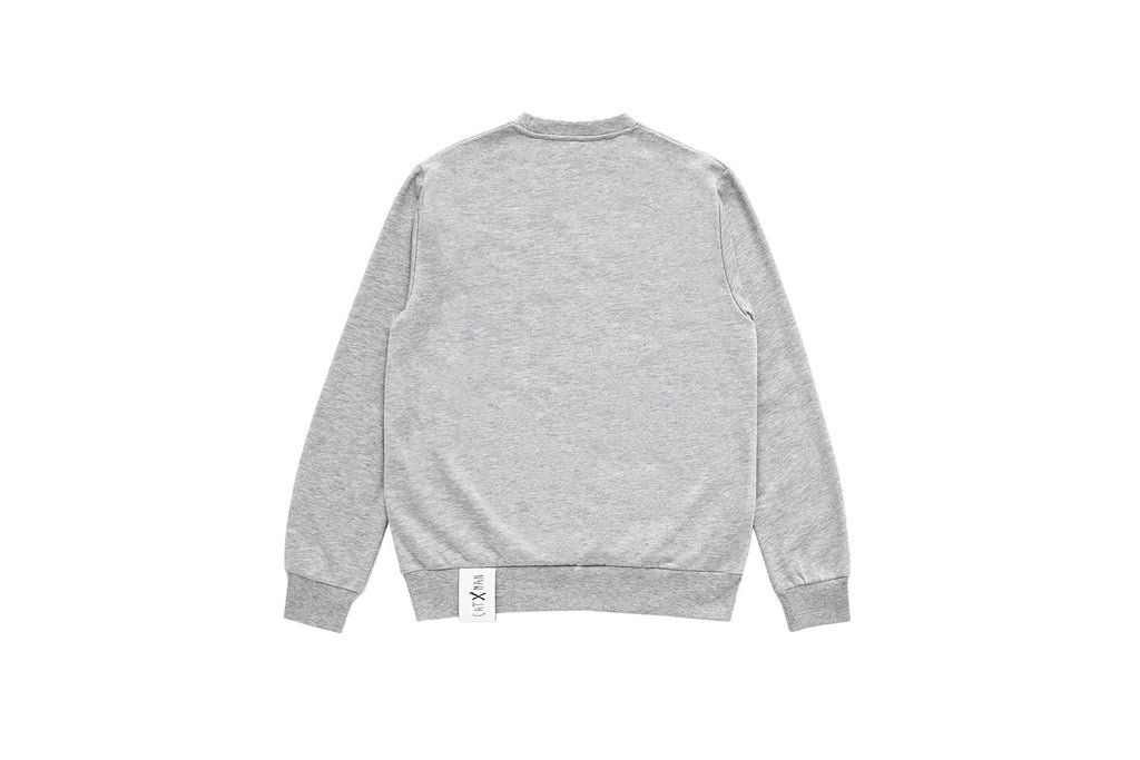 CATXMAN HEATHER GREY CREW NECK SWEATSHIRT (UNISEX)