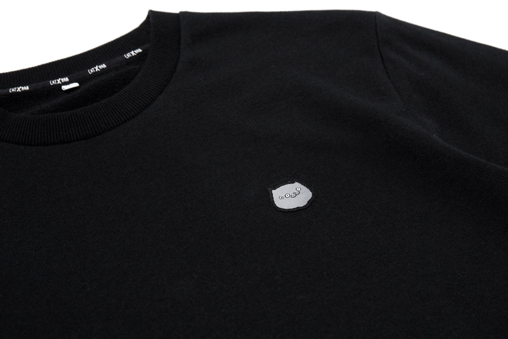 CATXMAN BASIC HEAD LOGO BLACK SWEATER (UNISEX)