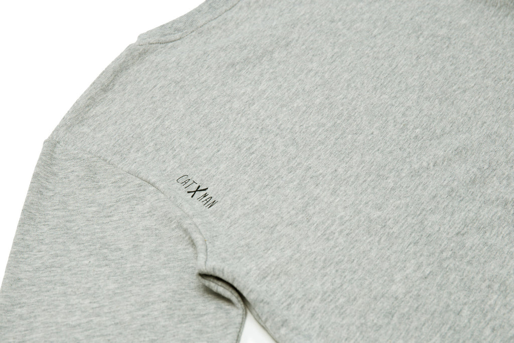 CATXMAN BASIC HEAD LOGO GREY SWEATER (UNISEX)
