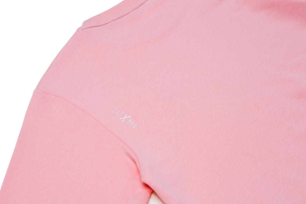 CATXMAN BASIC HEAD LOGO PINK SWEATER (UNISEX)