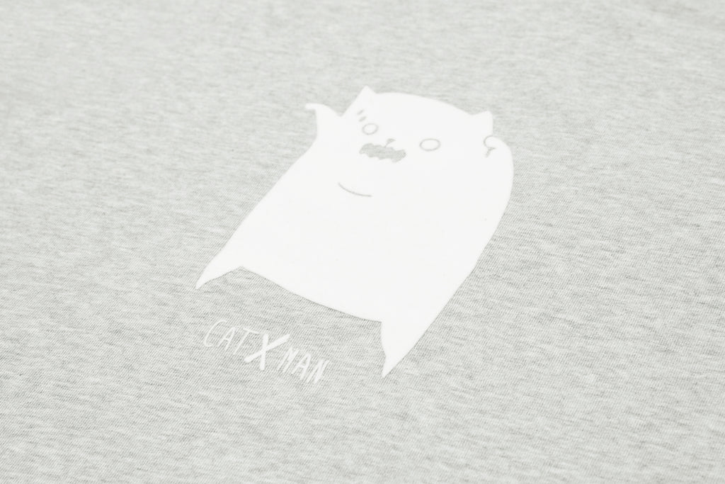 'CATXMAN 'LITTLE MONSTER' GREY CREW NECK SWEATER (UNISEX)