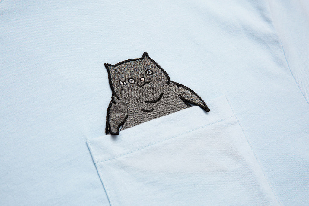 CATXMAN POCKET TEE WITH EMBROIDERY PATCH
