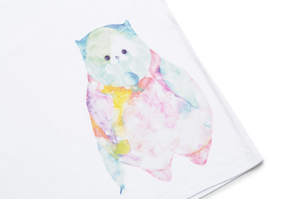CATXMAN AQUARELLE PAINTING MOCK NECK TEE