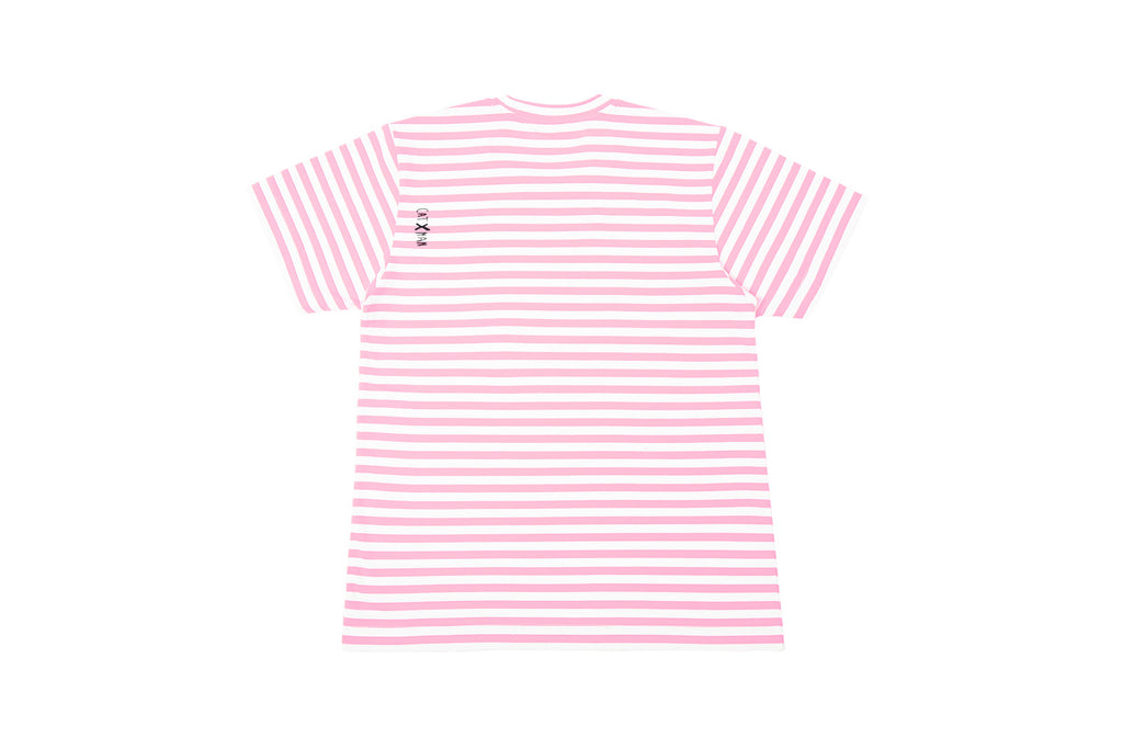 CATXMAN BASIC PINK STRIPED TEE (UNISEX)