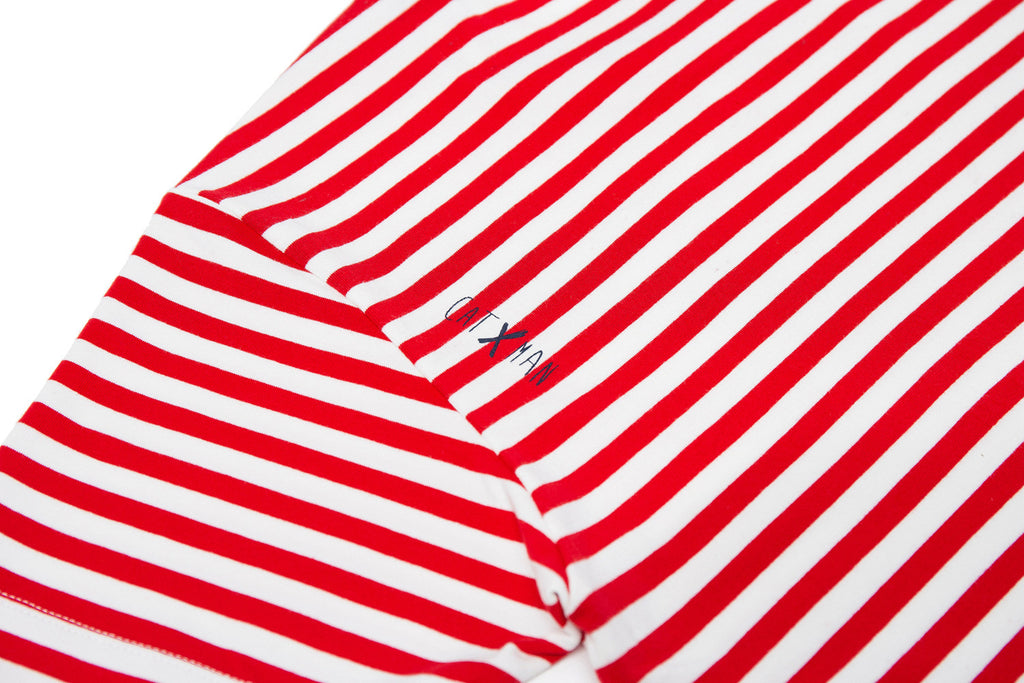 CATXMAN BASIC RED STRIPED TEE (UNISEX)