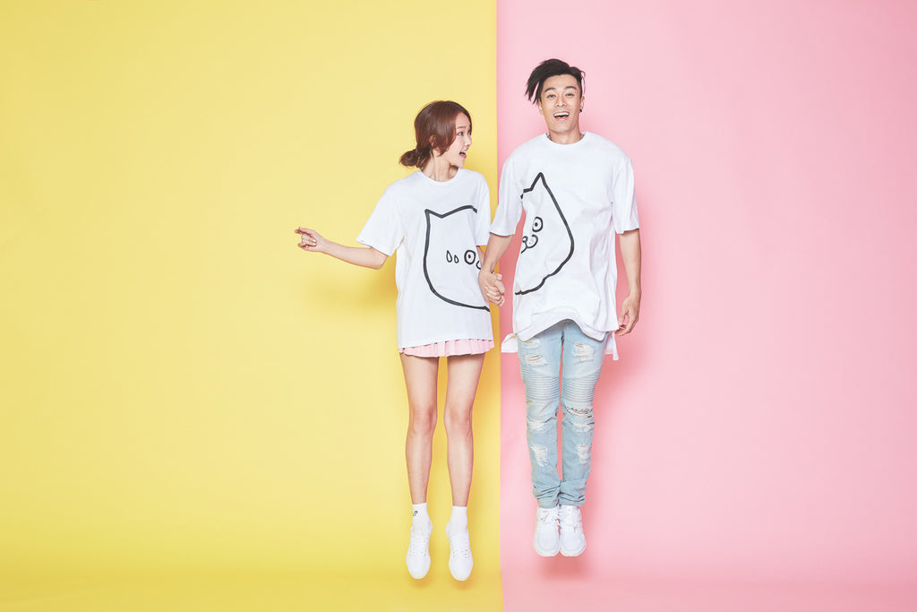 CATXMAN COUPLE TEE - FACE RIGHT (UNISEX)