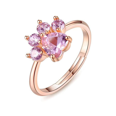 Bague Chat Or Rose
