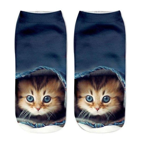 Chaussettes Chat Kawaii Cache-Cache
