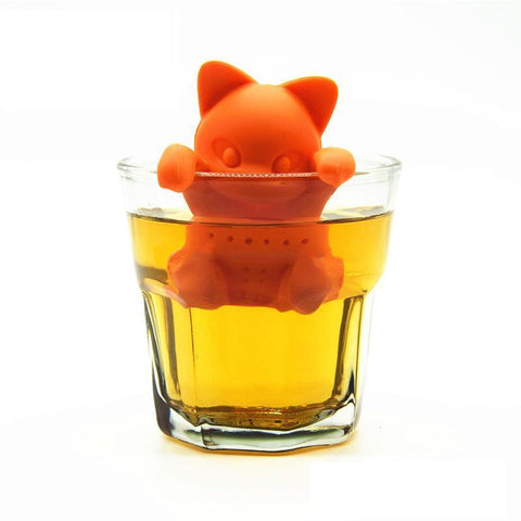Infuseur à Thé Chat Orange