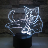 Lampe Chat 3D LED Blanche