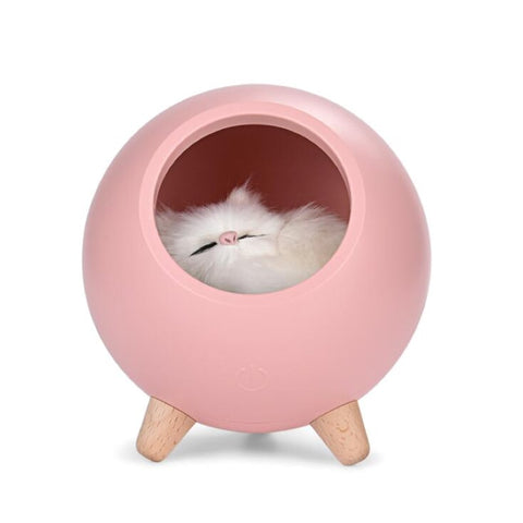 Lampe Veilleuse Chat Rose