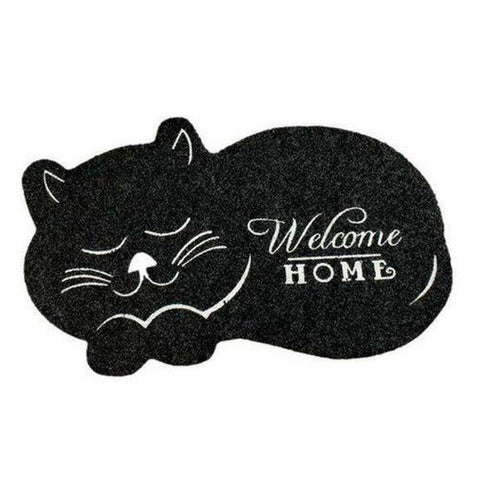 Paillasson Motif Chat Noir