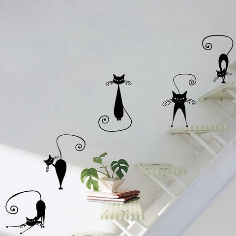 Stickers Muraux Chat Noir