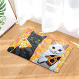 Tapis de Sol Motif Chat Pizza