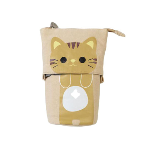 Trousse Chat Kawaii Beige