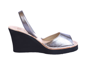 Metallic Pewter Wedge