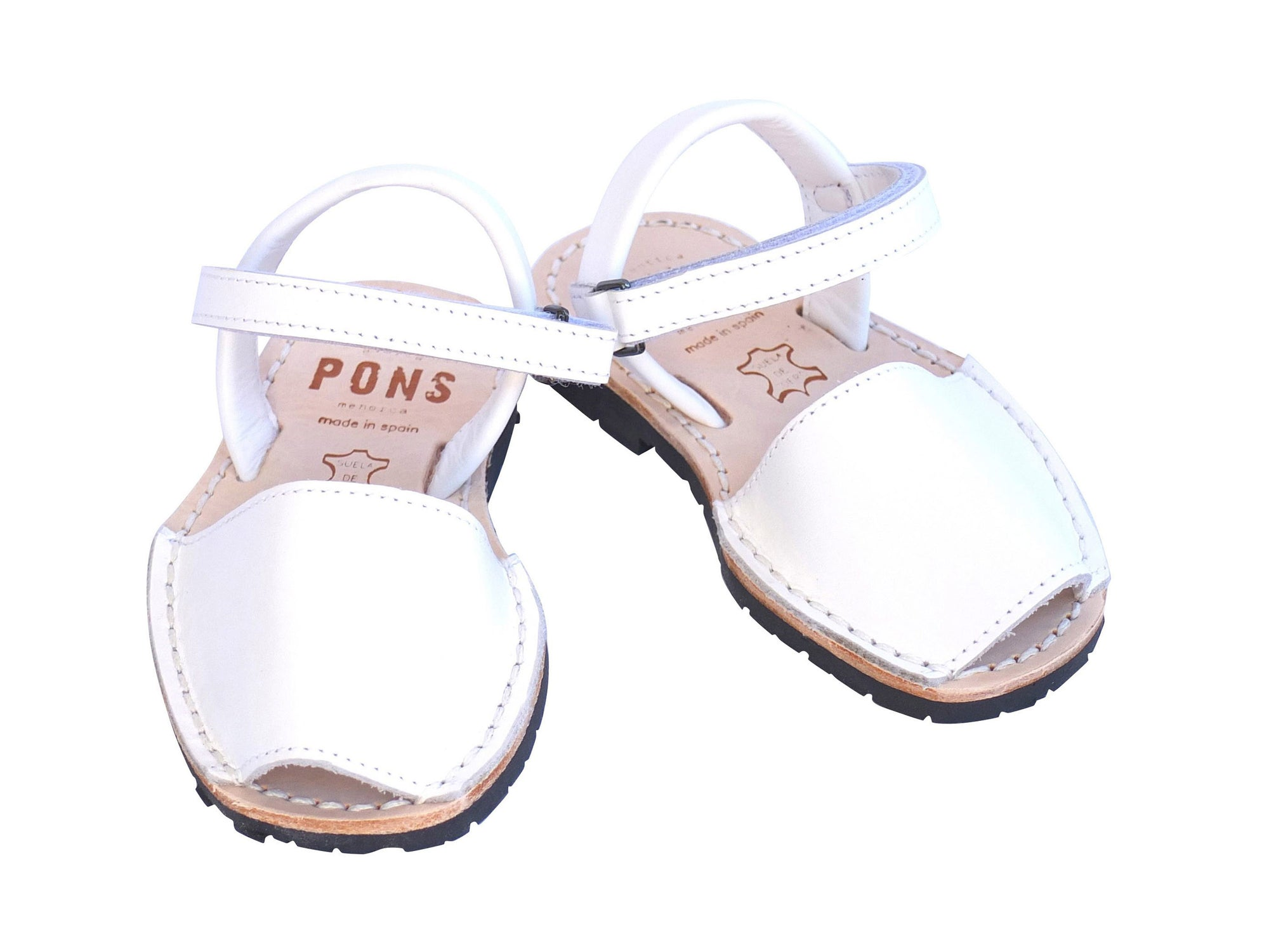 Toddler White Leather