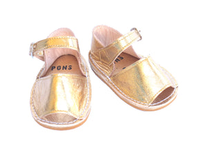 Baby Metallic Gold Leather