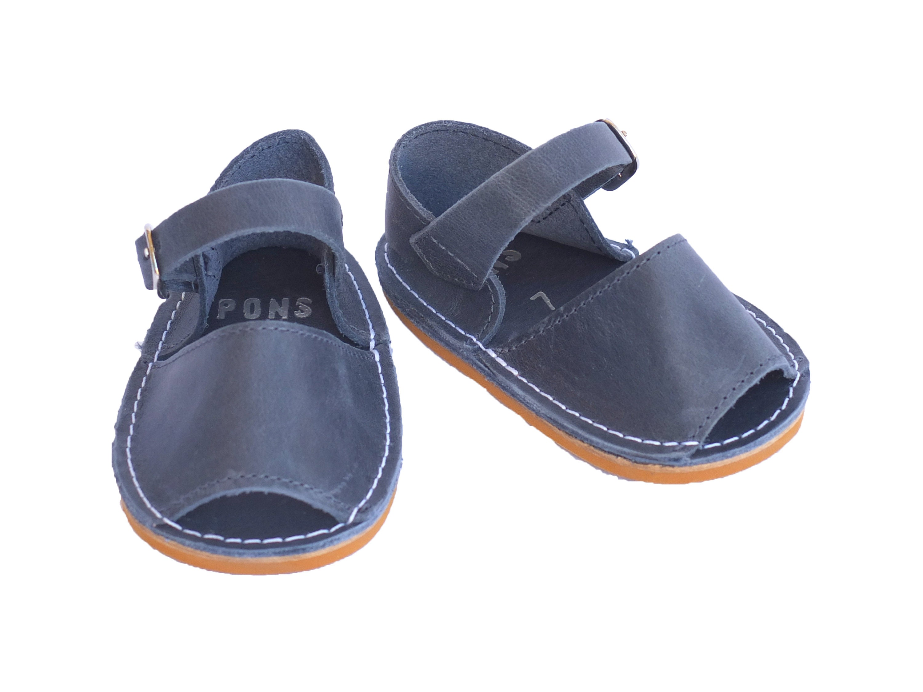 Baby Navy Blue Leather Handmade Baby Shoe from SHOEQ Shoeq