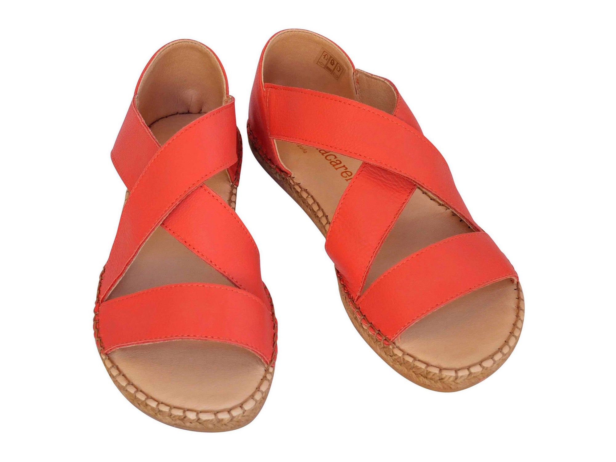 Coral Leather Beach Espadrille