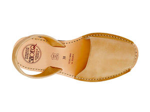 Caramel Leather Classic Avarca