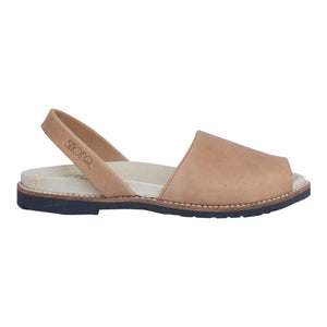 Caramel Leather Peep Toe Orthotic Avarca