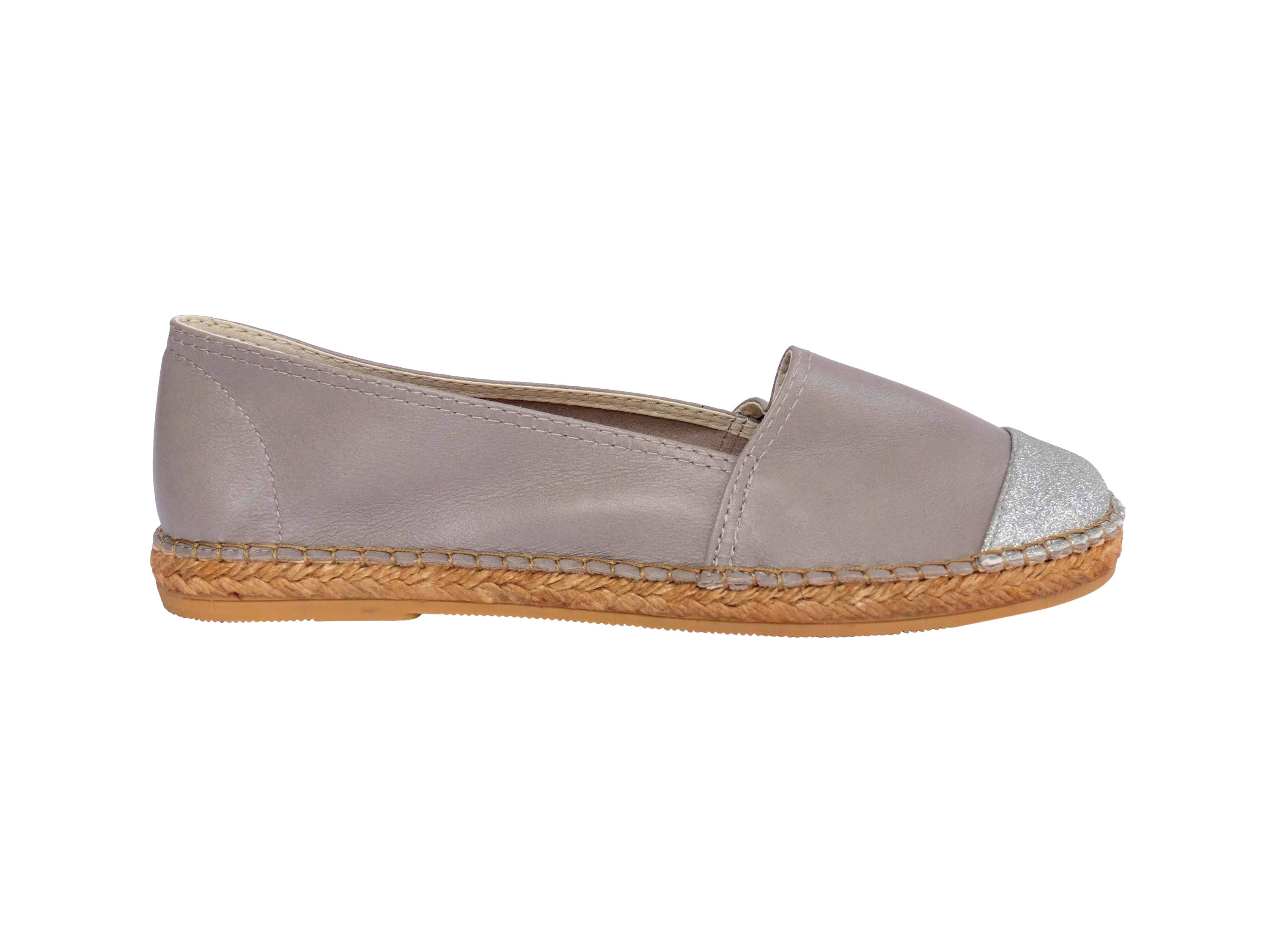 05c200eb708 Storm Leather with Glitter Toe Classic Espadrille