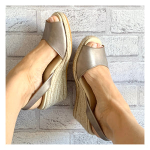 Platinum High Espadrille Wedge