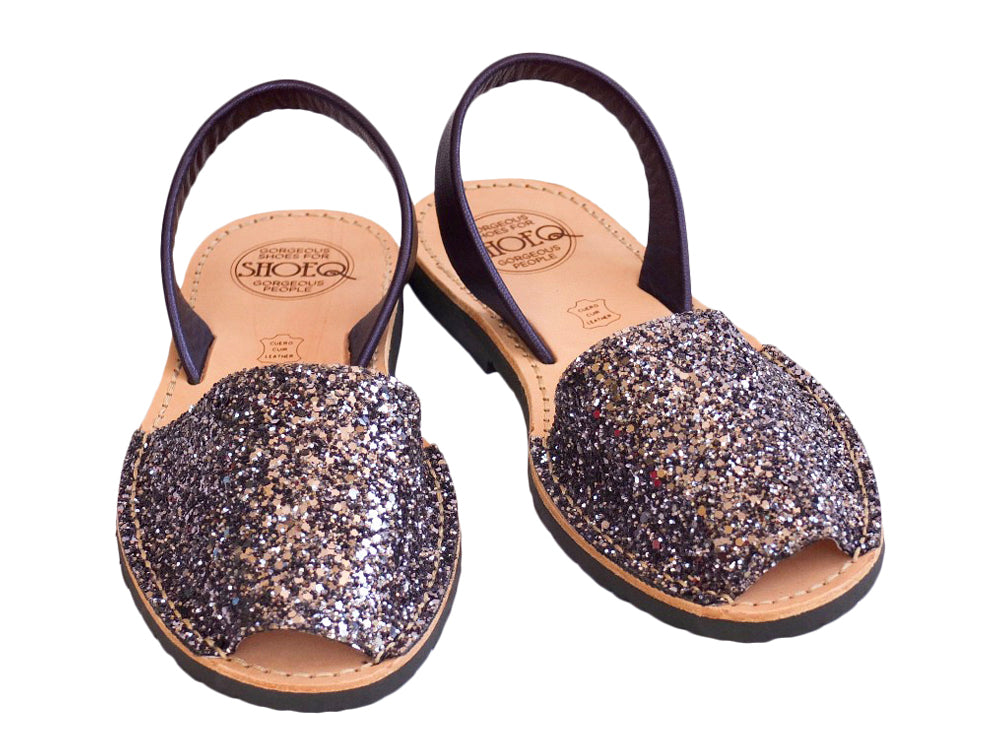 Pewter Glitter Classic Avarca