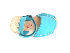 Toddler Aqua Nobuck Leather