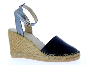 Midnight Pewter Closed Toe Wedge