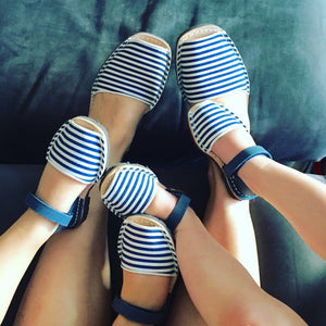 Blue & White Nautical Stripe Classic Avarca