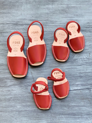 Toddler Red Leather