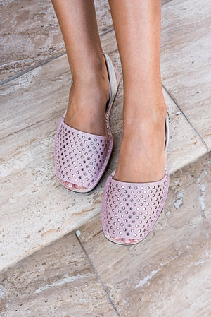 Pink & Silver Stud Classic Avarcas