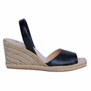 Charcoal Espadrille Wedge