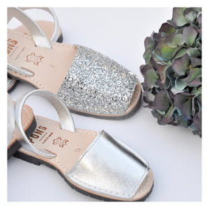 Girls Metallic Silver