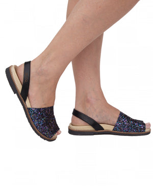 Galaxy Glitter Peep Toe Orthotic Avarca