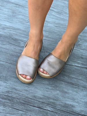 Platinum  Peep Toe Orthotic Avarca
