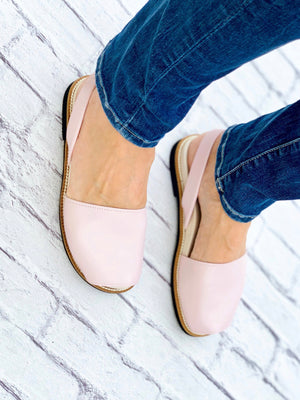 Blush Pink Leather Orthotic Avarca