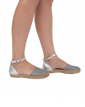 Grey Silver City Espadrille