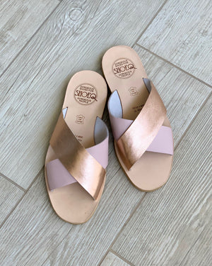 Rose Blush Crossover Slide