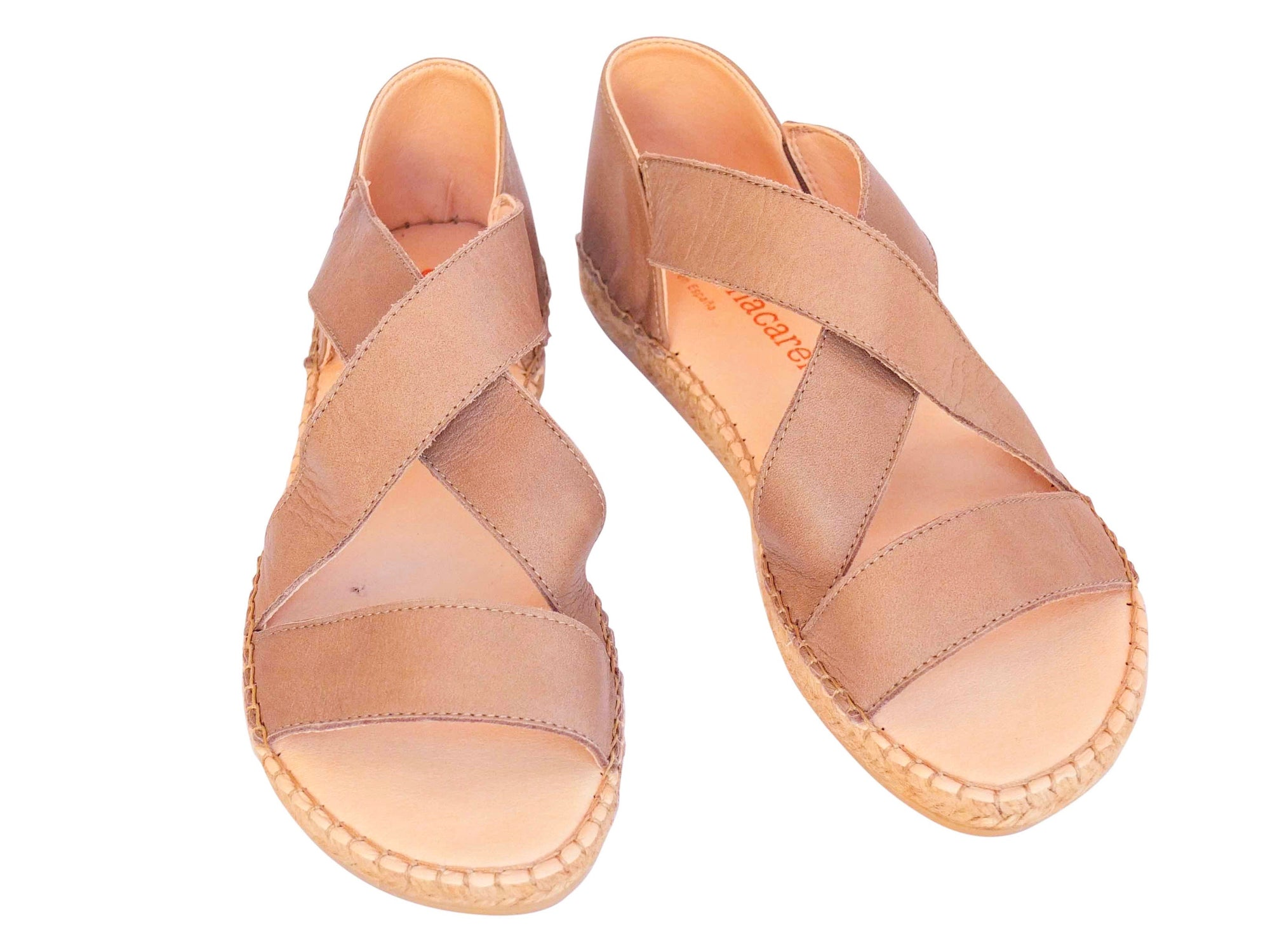 Coffee Leather Beach Espadrille
