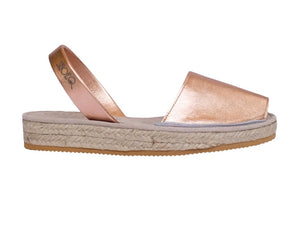 Rose Gold Micro Espadrille Wedge