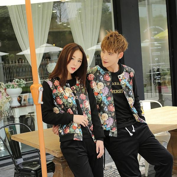 Pattern Prints Couple Sweatshirt