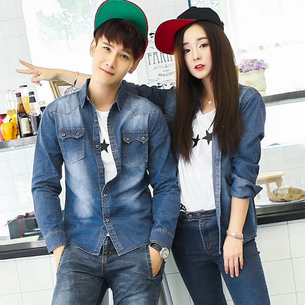 Double Denim Couple Look