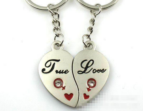 True Love Couple Keychain