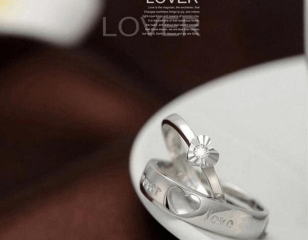 Forever Love Heart Couple Ring