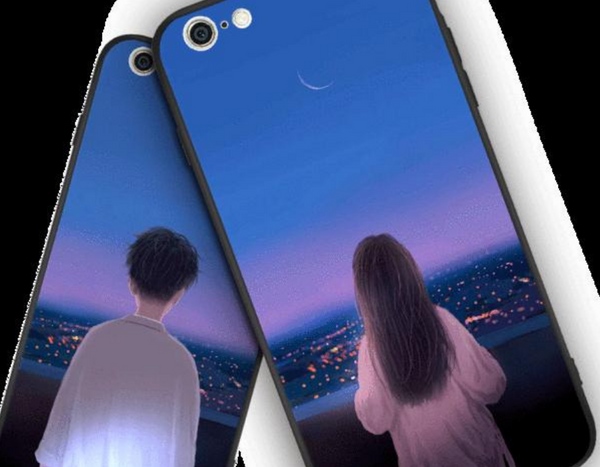 Boy and Girl Night View Couples Phone Case